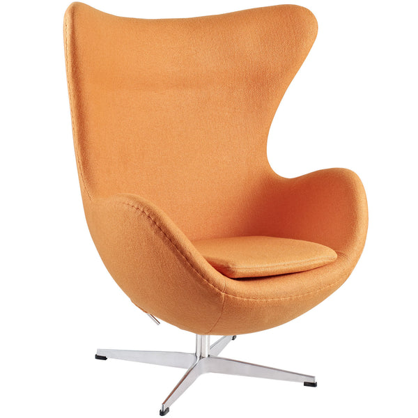 Glove Wool Lounge Chair - Orange