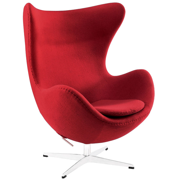 Glove Wool Lounge Chair - Red