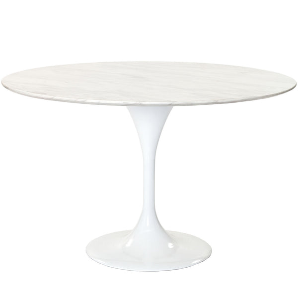 "Lippa 48"" Marble Dining Table - White"