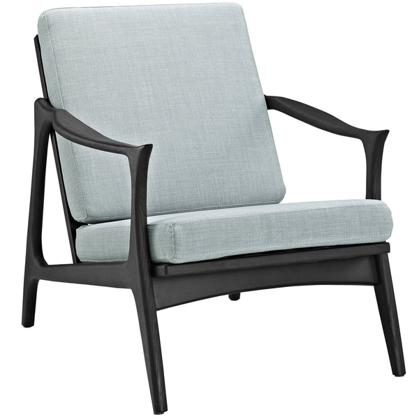 Pace Armchair - Black Light Blue