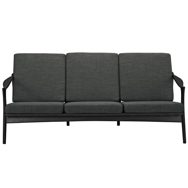 Pace Upholstered Sofa - Black Gray