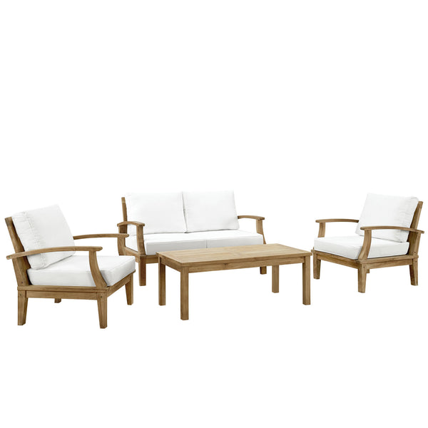 Harbor 4 Piece Outdoor Patio Teak Sofa Set