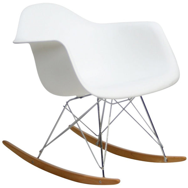 Rocker Lounge Chair - White