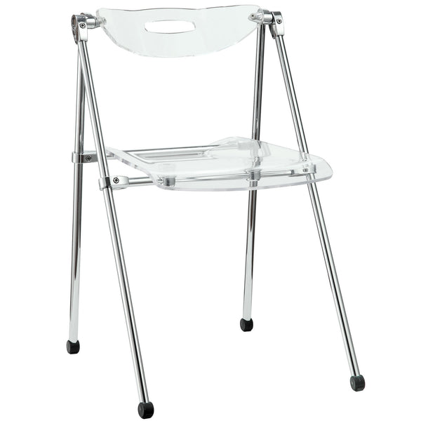 Telescope Folding Chair - Clear