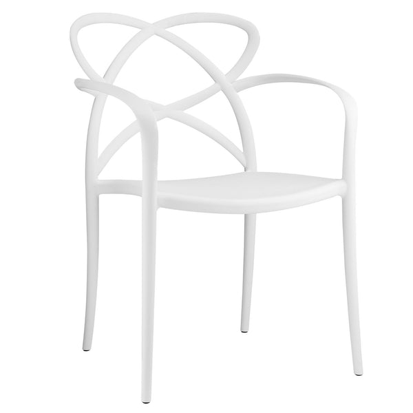 Enact Dining Armchair - White