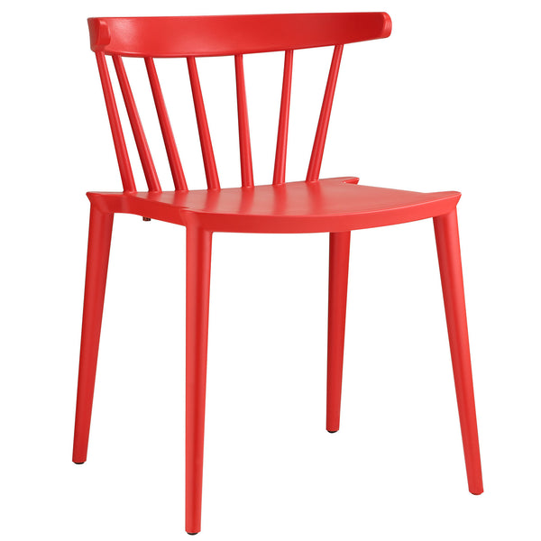 Spindle Dining Side Chair - Red