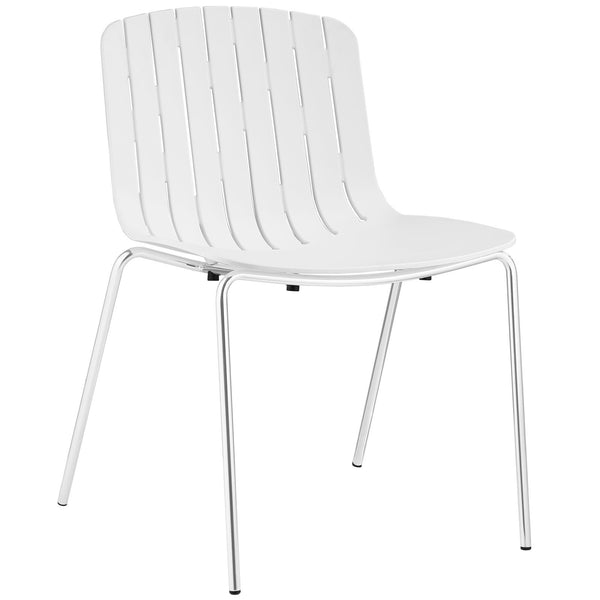 Trace Dining Side Chair - White