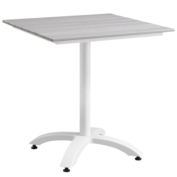"Maine 28"" Outdoor Patio Dining Table - White Light Gray"
