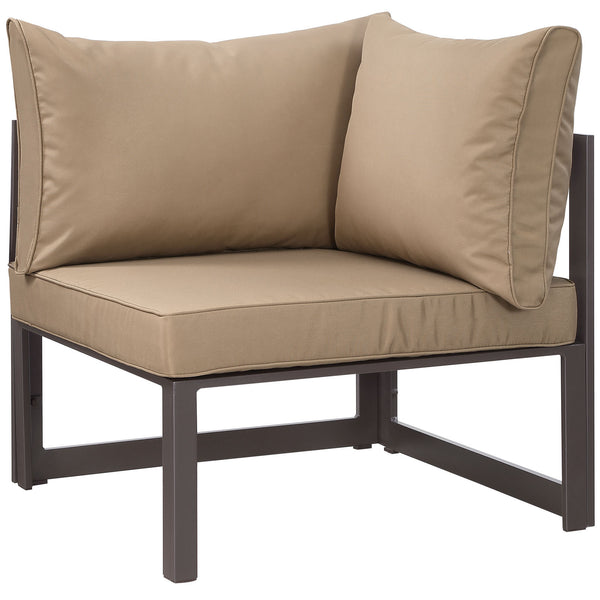 Fortuna Corner Outdoor Patio Armchair - Brown Mocha