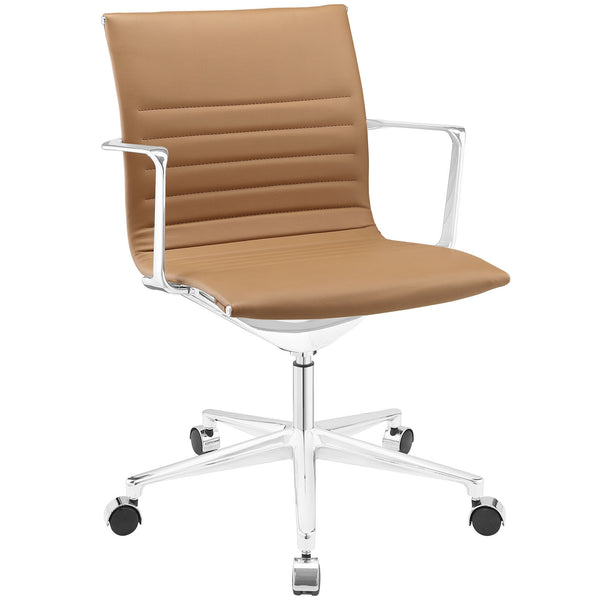 Vi Mid Back Office Chair - Tan