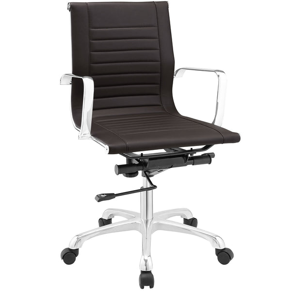 Runway Mid Back Office Chair - Brown