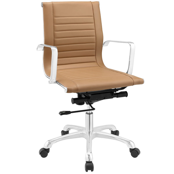Runway Mid Back Office Chair - Tan