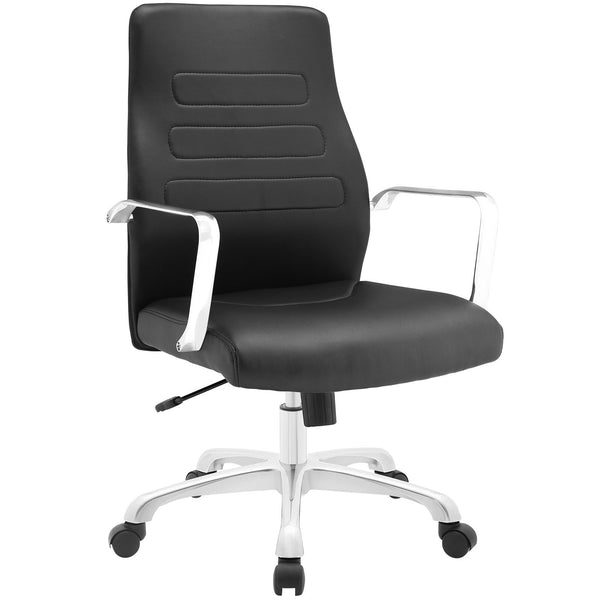 Depict Mid Back Aluminum Office Chair - Black