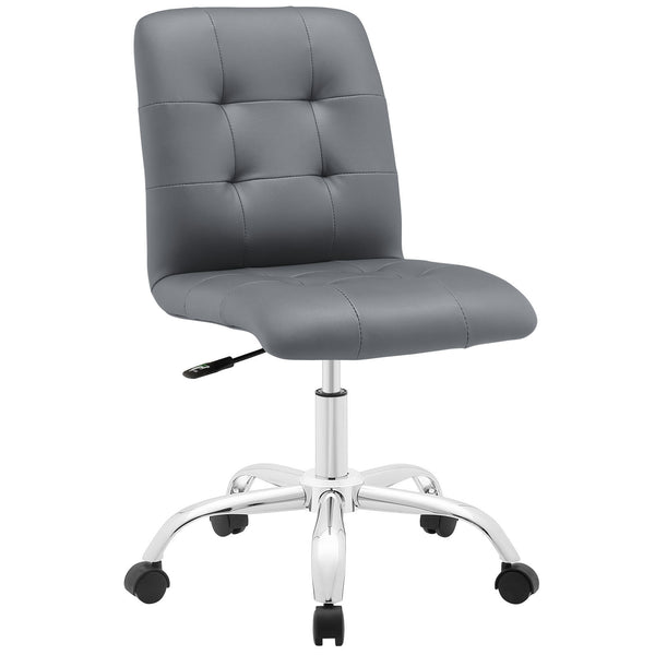 Prim Armless Mid Back Office Chair - Gray