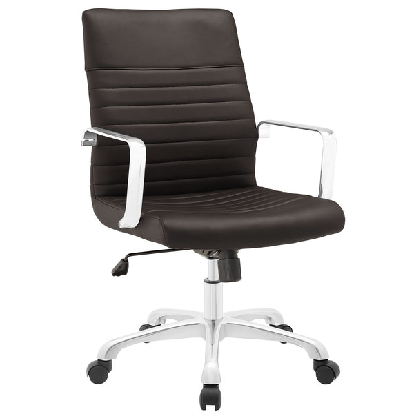 Finesse Mid Back Office Chair - Brown