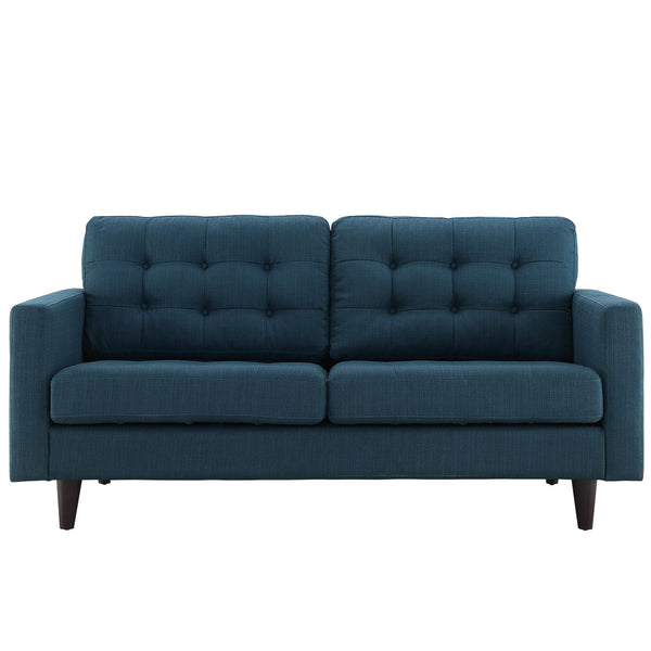 Empress Upholstered Loveseat - Azure