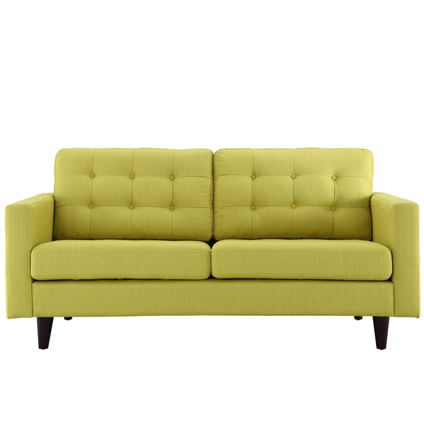 Empress Upholstered Loveseat - Wheatgrass