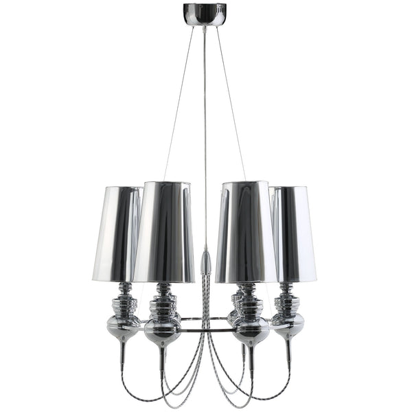 Tapestry Stainless Steel Chandelier - Silver
