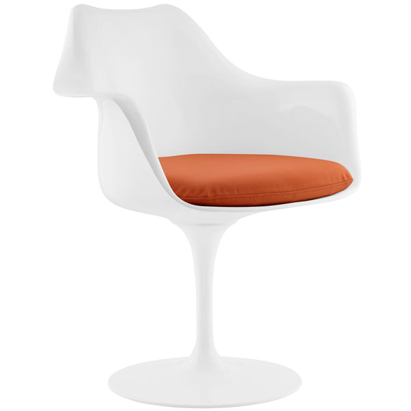 Lippa Dining Vinyl Armchair - Orange