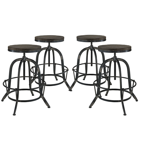 Collect Bar Stool Set of 4 - Black