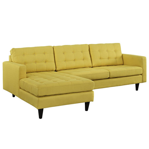 Empress Left-Facing Upholstered Sectional Sofa - Sunny