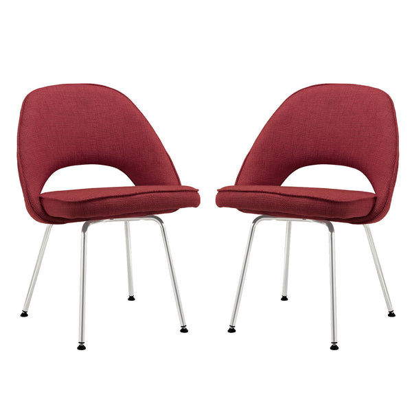 Cordelia Dining Chairs Set of 2 - Red