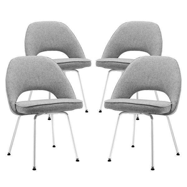 Cordelia Dining Chairs Set of 4 - Light Gray