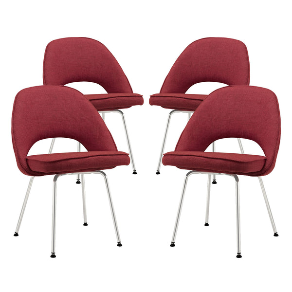 Cordelia Dining Chairs Set of 4 - Red