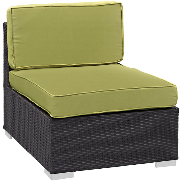 Gather Armless Outdoor Patio Sectional - Espresso Peridot