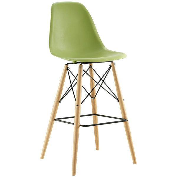 Eames Style Bar Stool - Light Green