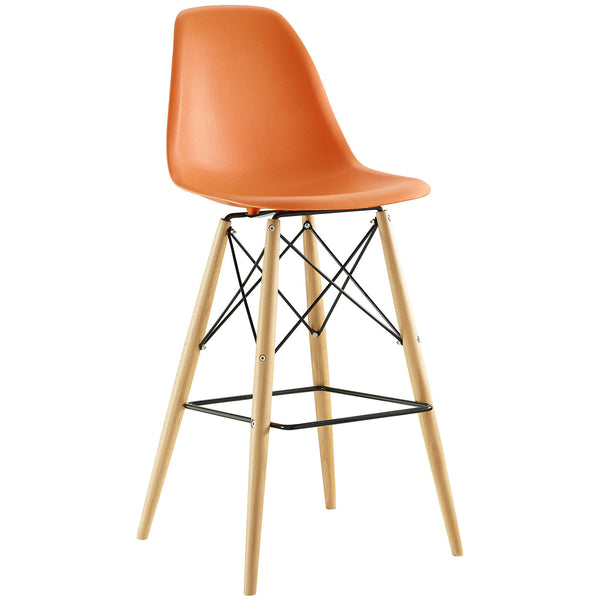 Eames Style Bar Stool - Orange