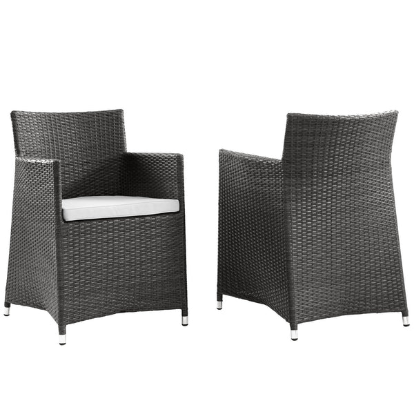 Junction Armchair Outdoor Patio Wicker Set of 2 - Brown White