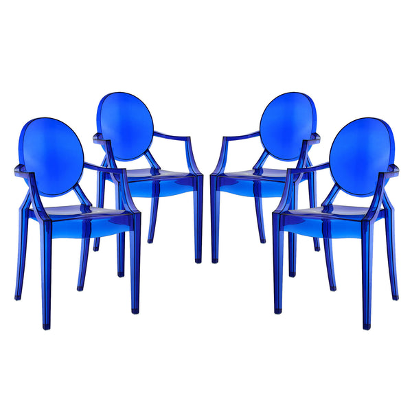 Casper Dining Armchairs Set of 4 - Blue