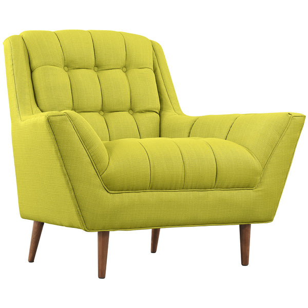 Response Fabric Armchair - Wheatgrass
