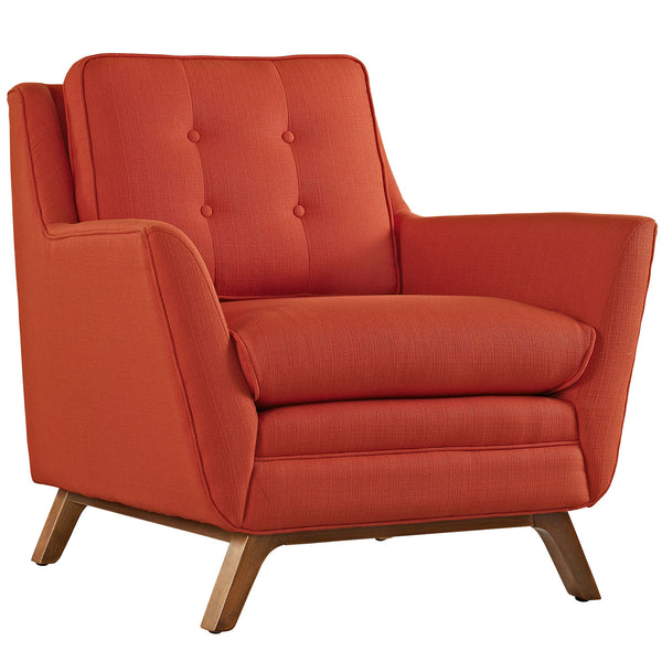 Beguile Fabric Armchair - Atomic Red
