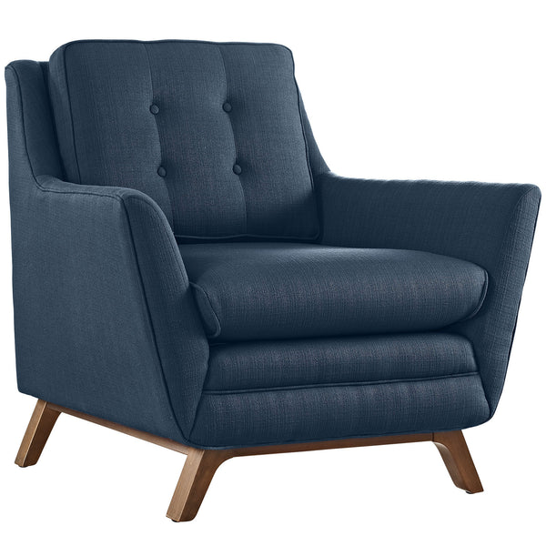 Beguile Fabric Armchair - Azure