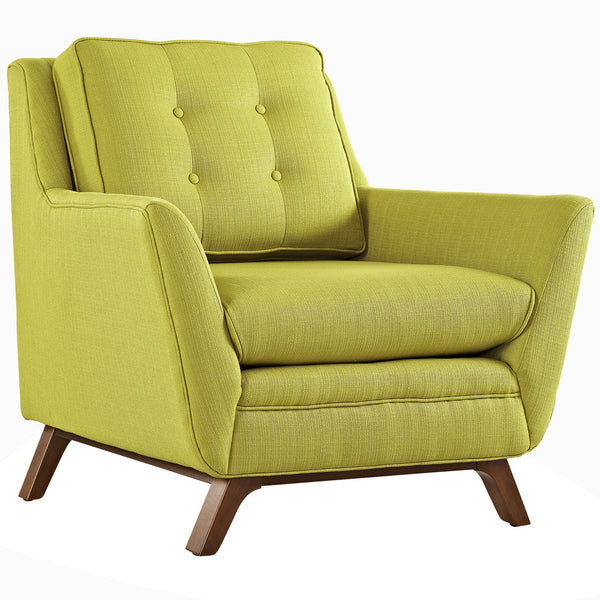 Beguile Fabric Armchair - Wheatgrass