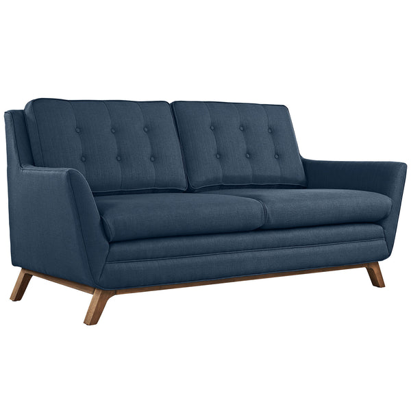 Beguile Fabric Loveseat - Azure