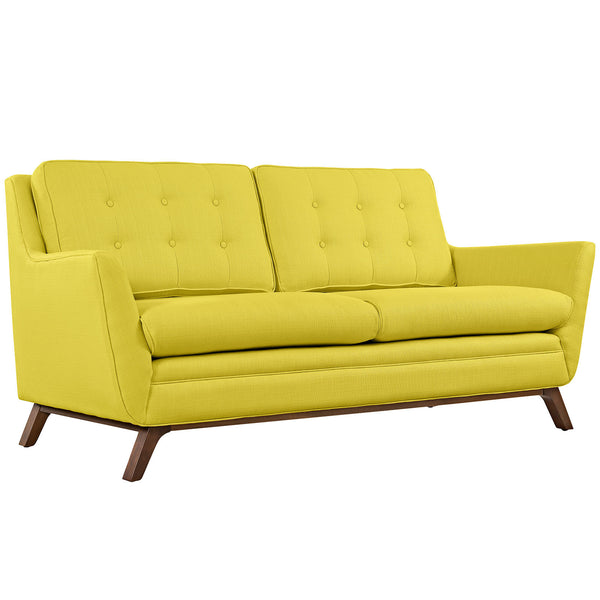 Beguile Fabric Loveseat - Sunny