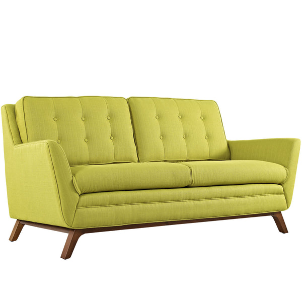 Beguile Fabric Loveseat - Wheatgrass