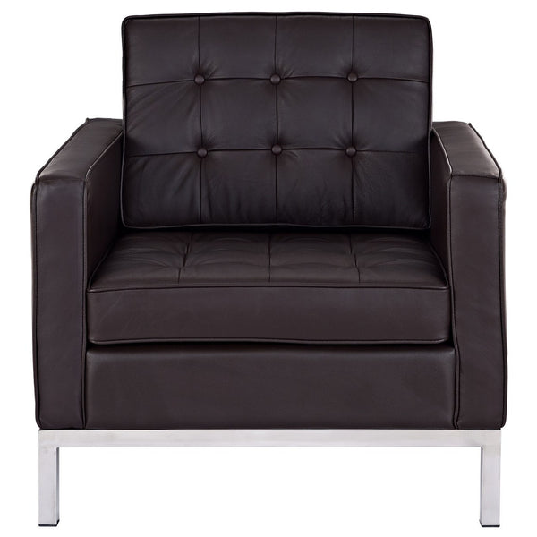 Loft Leather Armchair - Brown