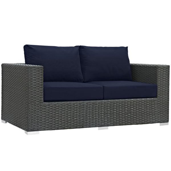 Sojourn Outdoor Patio Sunbrella® Loveseat - Canvas Navy