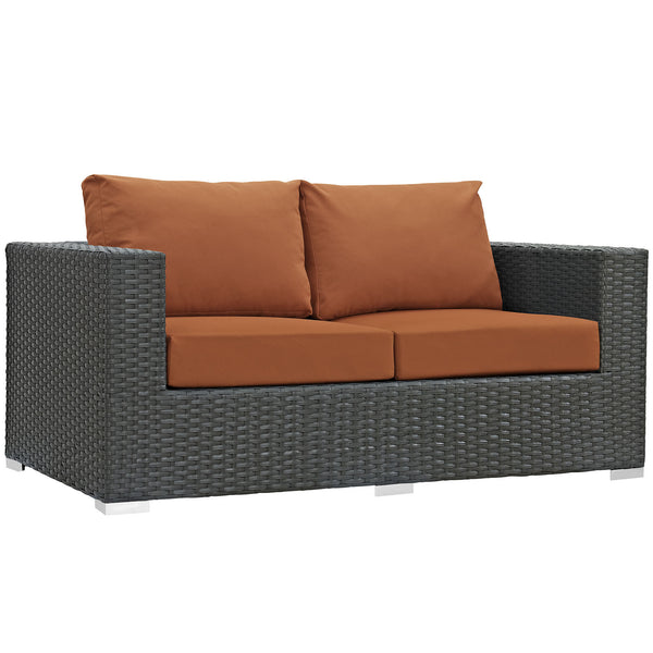Sojourn Outdoor Patio Sunbrella® Loveseat - Canvas Tuscan