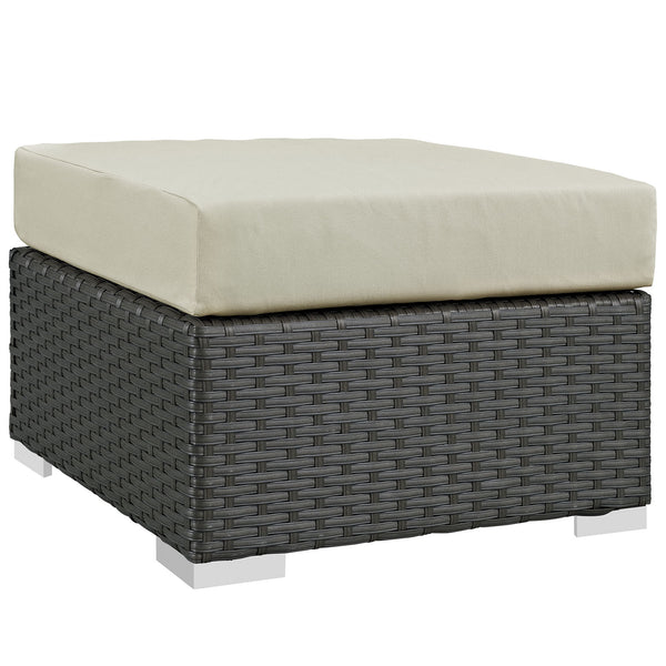 Sojourn Outdoor Patio Sunbrella® Ottoman - Canvas Antique Beige