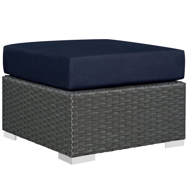 Sojourn Outdoor Patio Sunbrella® Ottoman - Canvas Navy