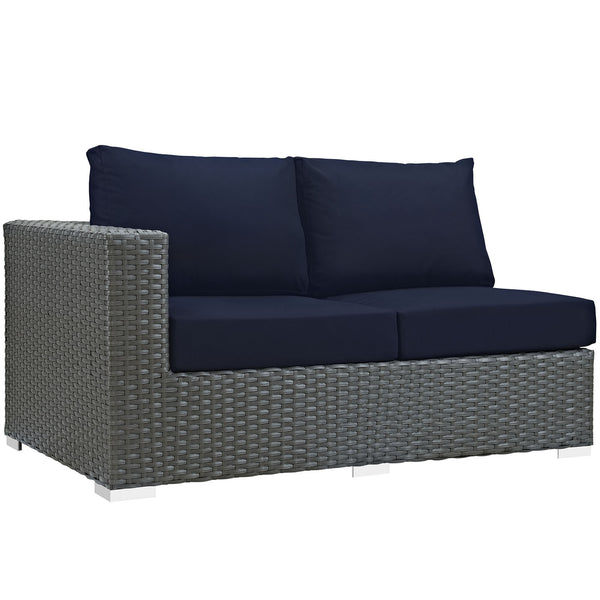 Sojourn Outdoor Patio Sunbrella® Left Arm Loveseat - Canvas Navy