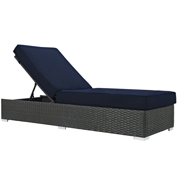 Sojourn Outdoor Patio Sunbrella® Chaise Lounge - Canvas Navy