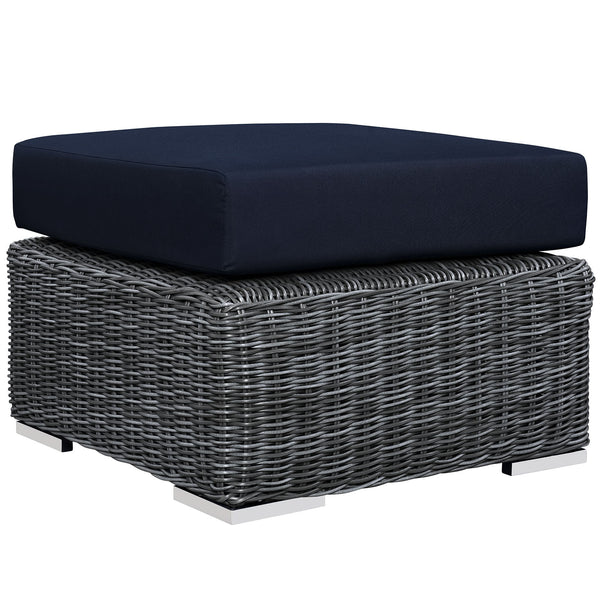 Summon Outdoor Patio Sunbrella® Ottoman - Canvas Navy
