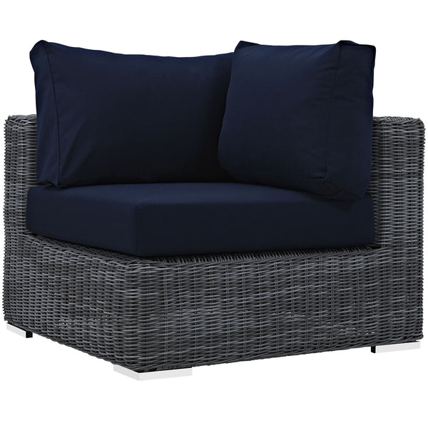 Summon Outdoor Patio Sunbrella® Corner - Canvas Navy