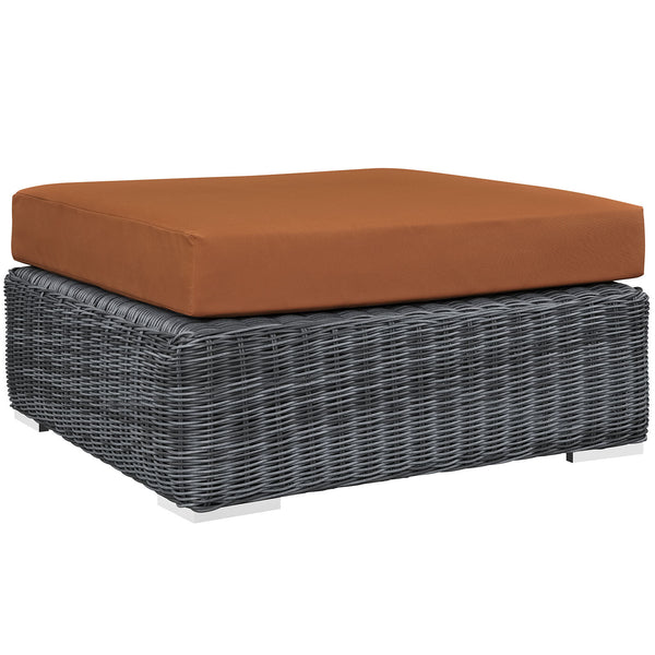 Summon Outdoor Patio Sunbrella® Square Ottoman - Canvas Tuscan